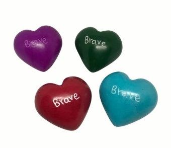 Soapstone Heart -Brave