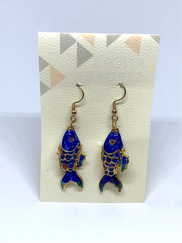 Recycled Tin Fish Earrings