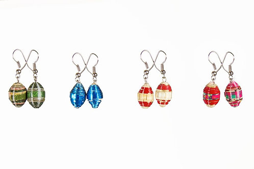 Paper Bead Earrings - Cambodia