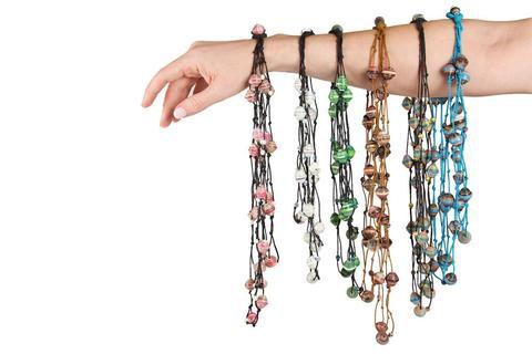 3-strand Paper Bead Necklace - Cambodia
