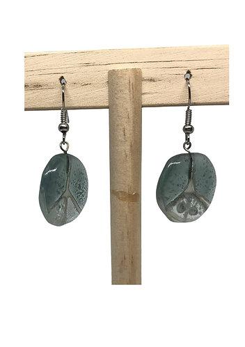 Fused Glass Earrings: Circle - Ecuador