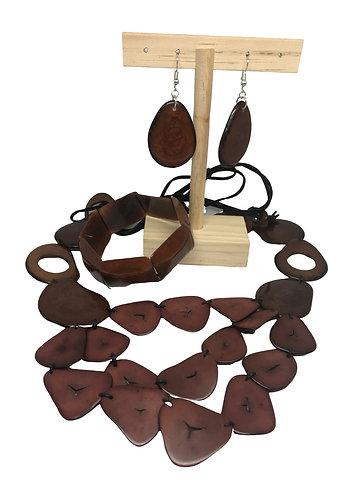 3-Piece Tagua Jewellery Set