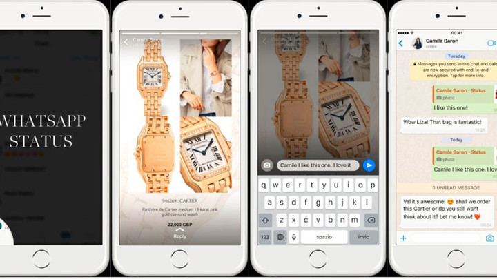 YOOX NET-A-PORTER TESTS NOTIFICATIONS AS ONE OF WHATSAPP'S FIRST BUSINESS PARTNERS