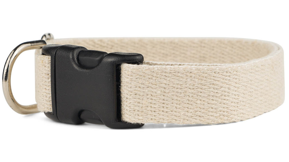 Hand Made Natural Cotton Dog Collar