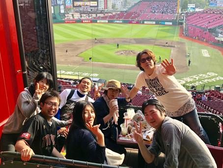 敬愛の訪問マッサージの仲間で野球観戦!