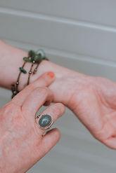 Acupressure on wrist