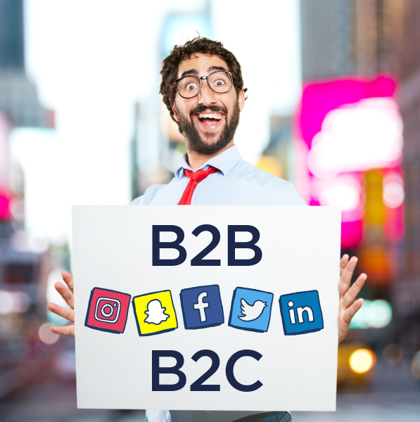 B2C marketing online, redes sociales B2B