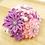 つまみ細工髪飾りピンク白紫