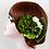 成人式つまみ細工髪飾り緑