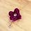 つまみ細工 シルクネックレス紫