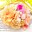 成人式七五三髪飾りサーモンピンク