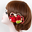 七五三 ちりめん和紐の髪飾り赤