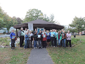 Members of the West River Watershed Coalition celebrate the publication of the Watershed Plan.