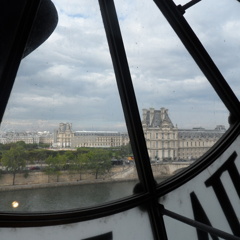 View of the Louvre from the Musée d'Orsay, Paris