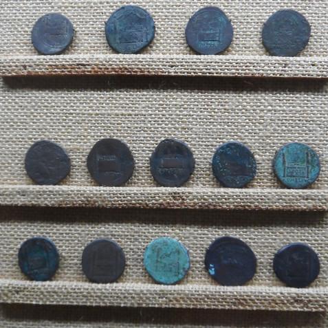 Ancient roman coins, Lyon