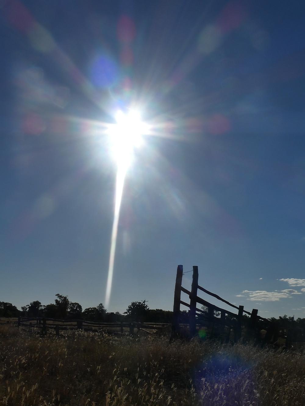 Copyright 2017-2020 Bryan W Foster - Huge sun cross