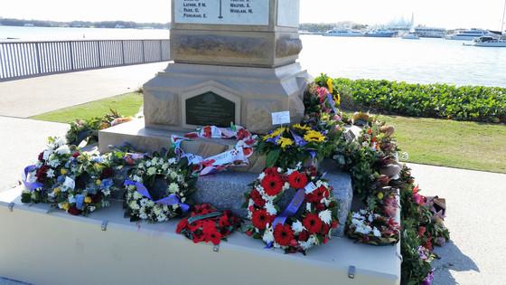 God shines on ANZAC Cenotaph