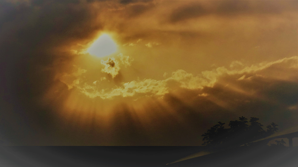 Sunset at Benowa Gold Coast © Copyright 2018 Bryan W Foster