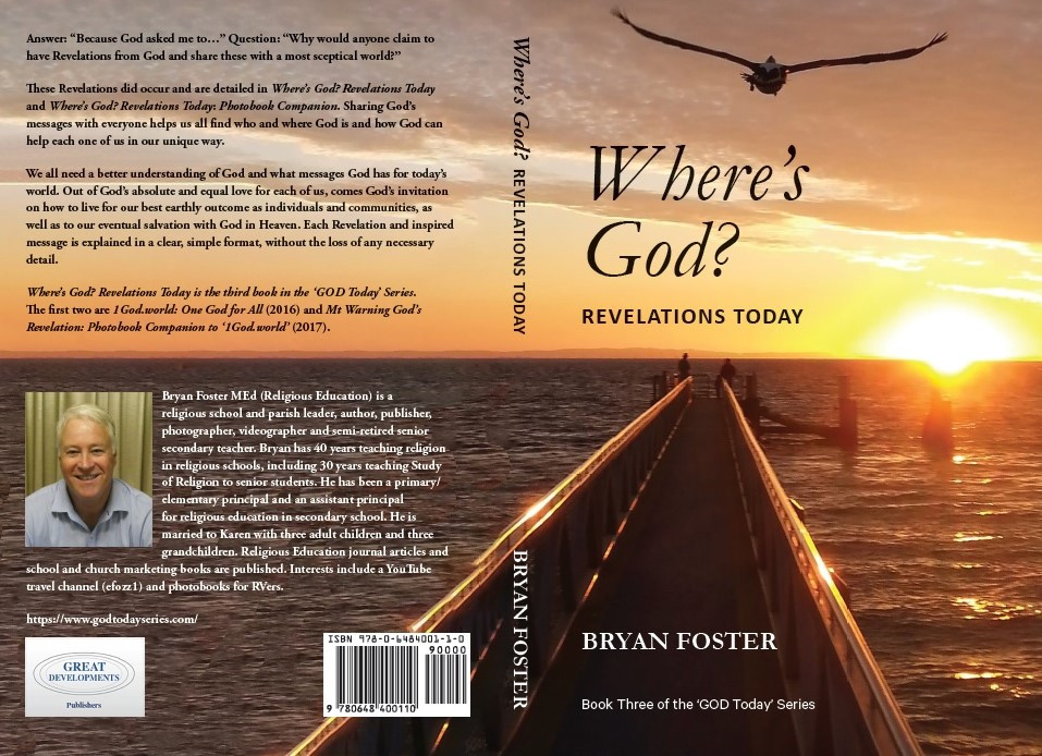 'Where's God? Revelations Today' by Bryan Foster book cover