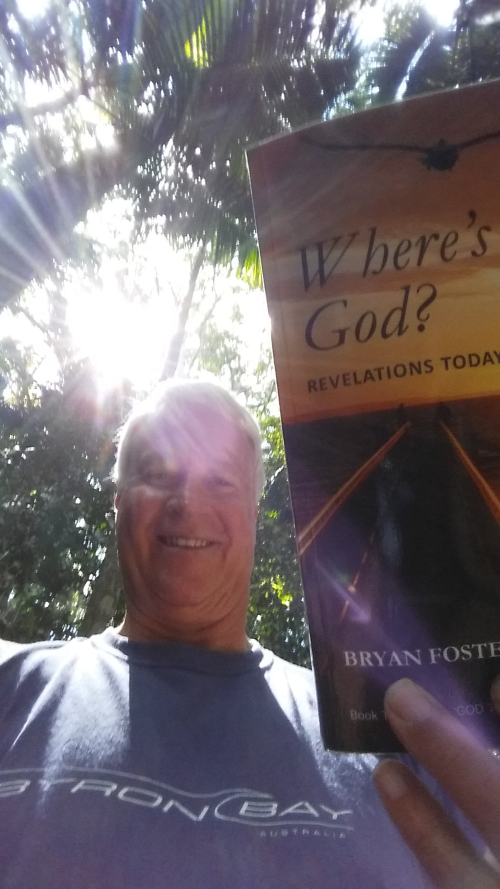Bryan Foster releasing 'Where's God? Revelations Today' at Mt Warning Wollumbin.