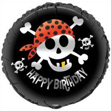 "Balloon Foil 18"" Pirate Happy Birthday"