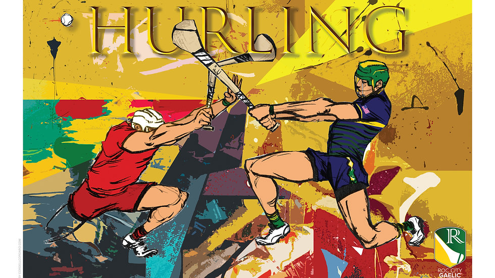 Hurling Print by Cordell Cordaro