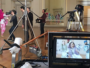 Behind the scenes of the BBC Bhangra dancers shoot in Edinburgh