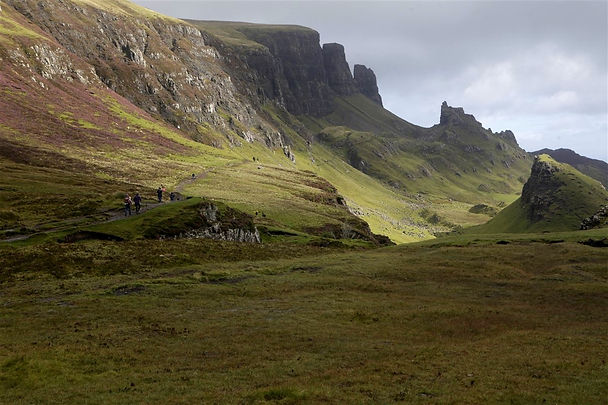People walking on Skye mountains