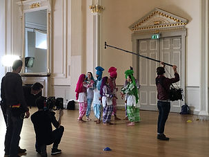 Behind the scenes of the BBC Bhangra dancers at the Assembly Rooms Edinburgh