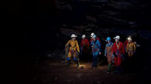 Cavers at Weymss Cave