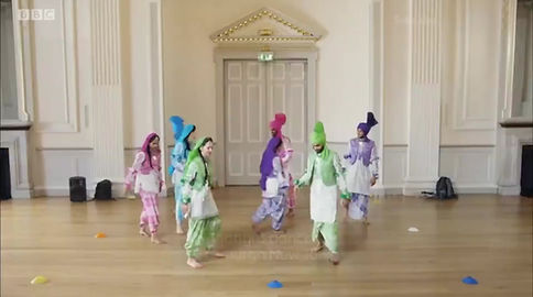 Bhangra dancers in Edinburgh Assembly Rooms