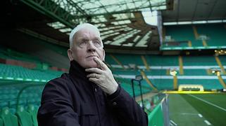 John Clark at Celtic Park for The Helpful Scot shoot for Kiwi