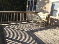 Deck facing house