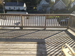 Looking out from deck