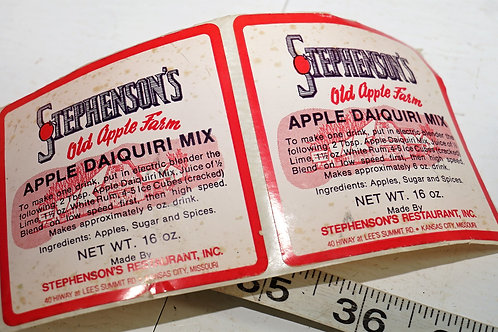 Roll Of Stephenson Apple Daiquiri Labels