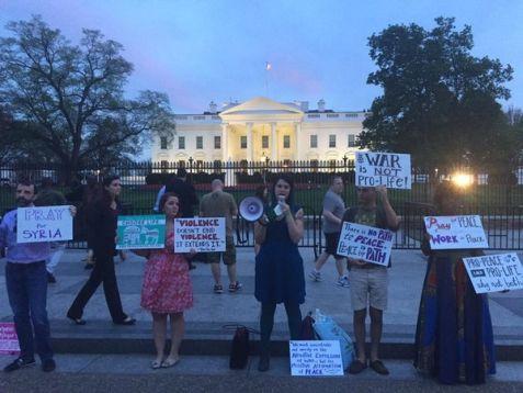 Peace vigil at the White House, April 10, 2017