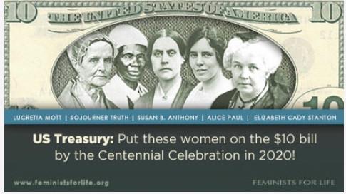 Women to appear on U.S. $10 bill