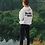 Thumbnail: Womens Center Style Moto & Ink Racing Logo Pullover Hoodie