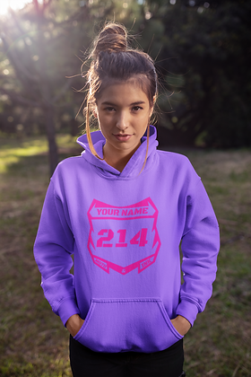 Youth Center Style Number Plate Logo Pullover Hoodie