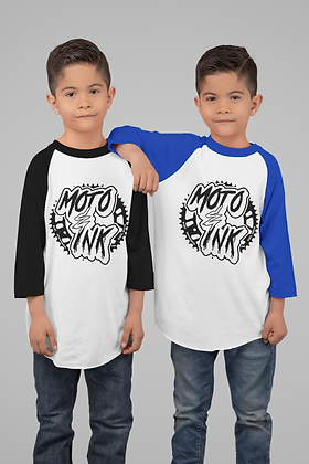 Youth- Boys Sprocket Logo Baseball 3/4 Sleeve StyleTee