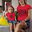 Thumbnail: Toddler- Chain Heart Style Logo- Girls Short Sleeve T-Shirt
