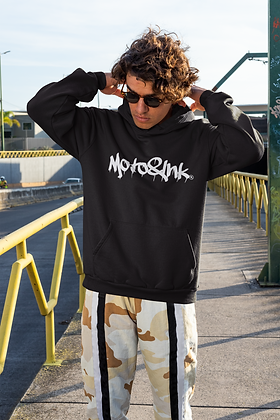 Mens Center Style Drip Logo Pullover Hoodie