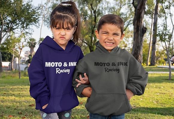 Toddler- Moto & Ink Racing Pullover Style Hoodie