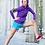 Thumbnail: Womens Zip-Up Pocket Style Drip Logo Hoodie