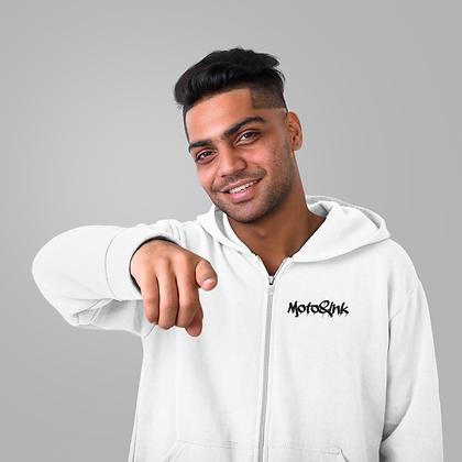 Mens Zip-Up Pocket Style Drip Logo Hoodie