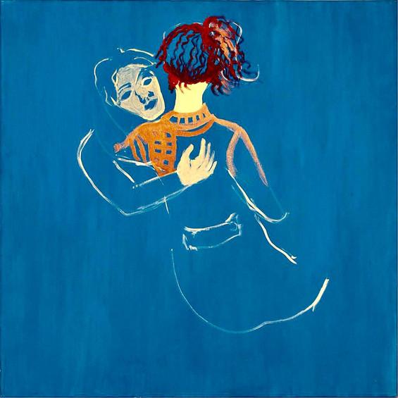 Blue hug