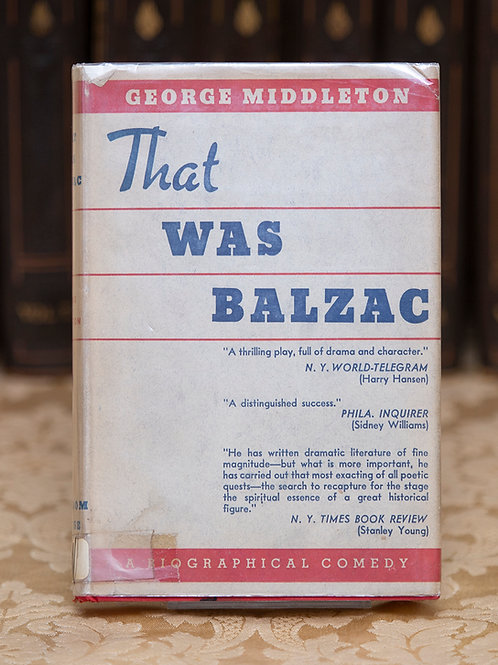 That Was Balzac - George Middleton