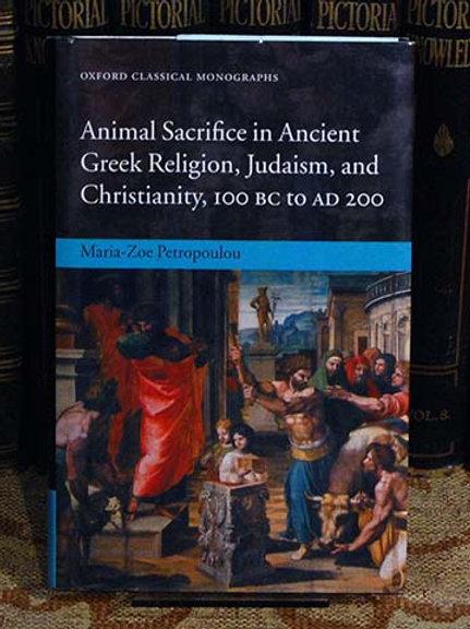 Animal Sacrifice in Ancient Greek Religion, Judaism & Christianity