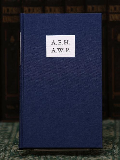 A.E.H. A.W.P.: A Classical Friendship - A. E. Housman and A. W. Pollard