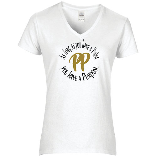 V-Neck Fitted Purpose Pusher T-Shirt